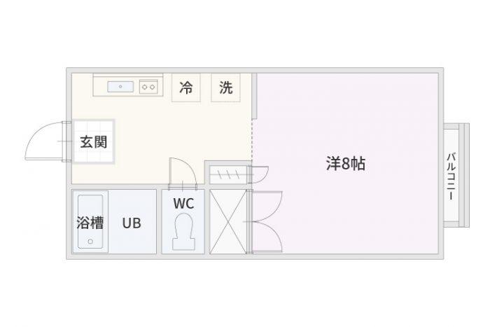 弘前市のアパート・賃貸 サンライズマンション21 A・B棟 間取り