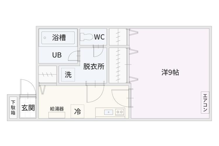 弘前市のアパート・賃貸物件 サンライズマンション スピリッツ 間取り